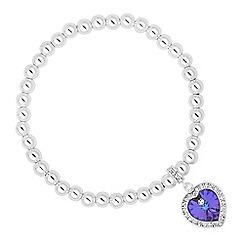 Jon Richard - Purple crystal heart surround bracelet MADE WITH SWAROVSKI CRYSTALS