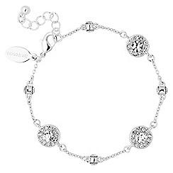 Jon Richard - Silver clara crystal link bracelet