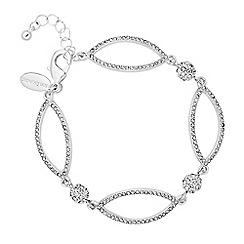 Jon Richard - Silver pave ball and navette bracelet