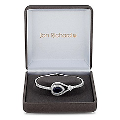 Jon Richard - Lustre Collection Blue cubic zirconia peardrop statement bracelet