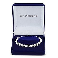 Jon Richard - Allure Collection Silver cubic zirconia circle bracelet