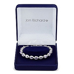 Jon Richard - Allure Collection Purple cubic zirconia peardrop bracelet
