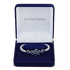 Jon Richard - Blue cubic zirconia leaf cluster bangle
