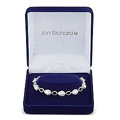 Jon Richard - Allure Collection Silver cubic zirconia open peardrop bracelet