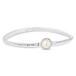 Alan Hannah Devoted - Designer pearl and crystal bangle