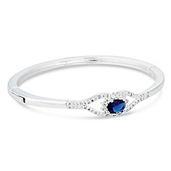 Alan Hannah Devoted - Designer blue cubic zirconia pave encased silver bracelet