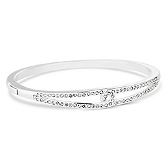 Jon Richard - Silver interlinked crystal bangle