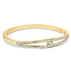 Jon Richard - Gold interlinked crystal bangle