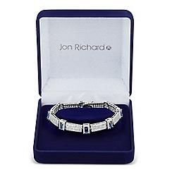 Jon Richard - Allure Collection Blue cubic zirconia square link bracelet