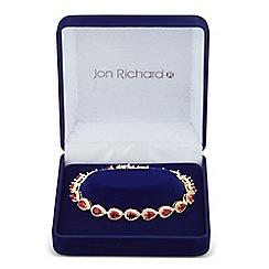 Jon Richard - Allure Collection Red cubic zirconia peardrop bracelet