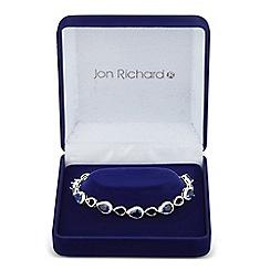 Jon Richard - Allure Collection Blue cubic zirconia open peardrop bracelet
