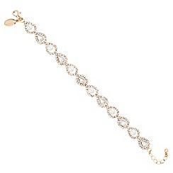 Jon Richard - Gold crystal diamante and pearl bracelet