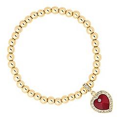 Jon Richard - Red crystal heart charm bracelet MADE WITH SWAROVSKI CRYSTALS