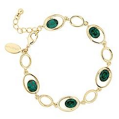 Jon Richard - Gold green crystal oval bracelet MADE WITH SWAROVSKI CRYSTALS