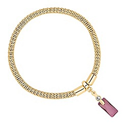 Jon Richard - Gold lilac baguette crystal bracelet MADE WITH SWAROVSKI CRYSTALS
