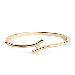 Jon Richard - Gold crystal curve bangle