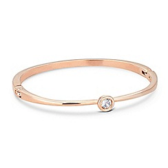 Jon Richard - Solitaire crystal stone set rose gold bangle