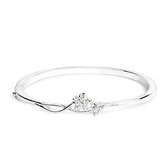 Jon Richard - Silver crystal flower bangle