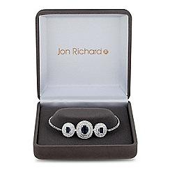 Jon Richard - Lustre Collection Blue cubic zirconia infinity circle bracelet