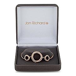 Jon Richard - Rose gold cubic zirconia circle twist bracelet