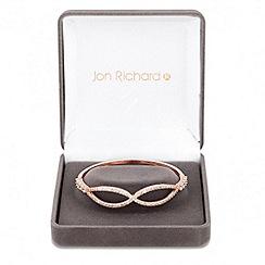 Jon Richard - Rose gold cubic zirconia infinity link bracelet