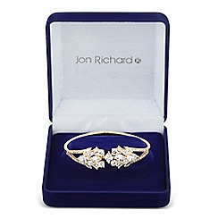 Jon Richard - Allure Collection Gold cubic zirconia leaf cluster bangle