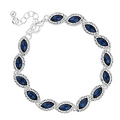 Jon Richard - Blue navette crystal bracelet