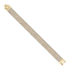 Jon Richard - Gold diamante crystal multi row bracelet