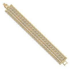 Jon Richard - Gold diamante multi row chain bracelet