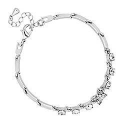 Jon Richard - Silver crystal flower link bracelet