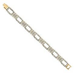 Jon Richard - Gold diamante crystal open link bracelet