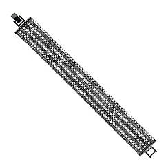 Jon Richard - Silver diamante multi row bracelet