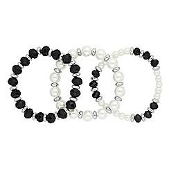 Jon Richard - Monochrome beaded bracelet set