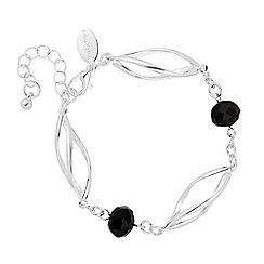 Jon Richard - Jet beaded silver link bracelet