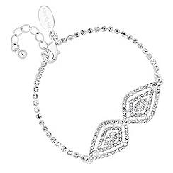Jon Richard - Silver diamante gradient peardrop bracelet