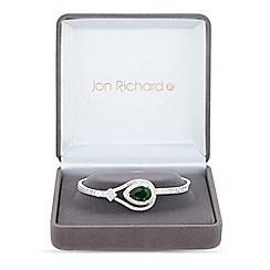 Jon Richard - Lustre Collection Green cubic zirconia statement bangle