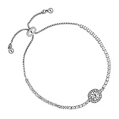 Jon Richard - Silver clara crystal toggle bracelet