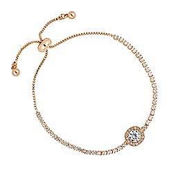 Jon Richard - Rose gold clara crystal toggle bracelet