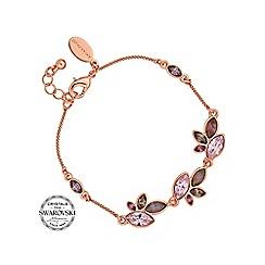 Jon Richard - Pink tonal bracelet MADE WITH SWAROVSKI CRYSTALS