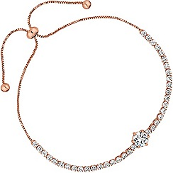 Jon Richard - Rose gold fine toggle bracelet