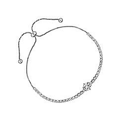 Jon Richard - Silver fine toggle bracelet