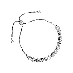 Jon Richard - Silver tennis toggle bracelet