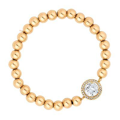Jon Richard Gold stretch bracelet with central cubic