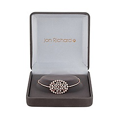 Jon Richard - Rose gold filigree toggle bracelet