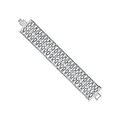 Jon Richard - Silver diamante crystal bracelet