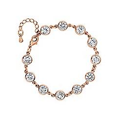 Jon Richard - Rose gold circle bracelet