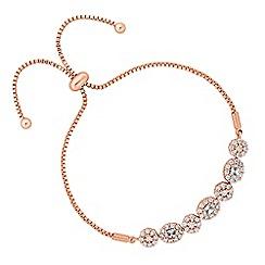Jon Richard - Rose gold floral toggle bracelet