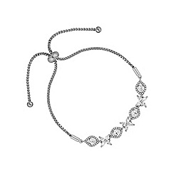 Alan Hannah Devoted - Silver floral toggle bracelet