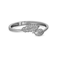 Jon Richard - Silver pave crystal feather bangle