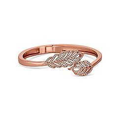 Jon Richard - Rose gold pave feather bangle